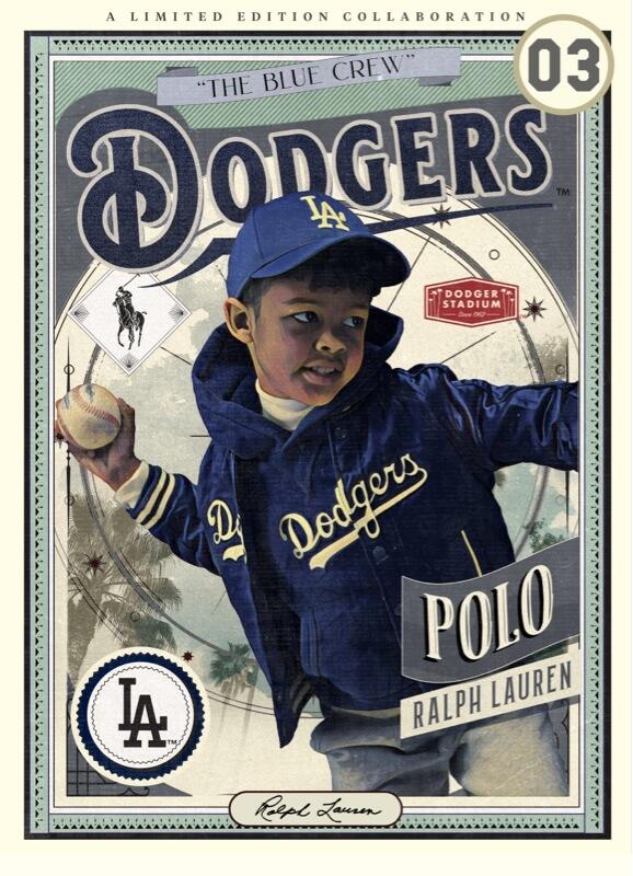 Ralph Lauren Dodgersのトレーディングカードのイラスト