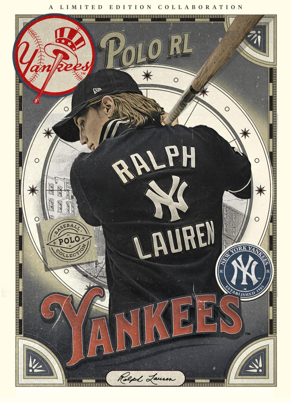 A LIMITED EDITION COLLABORATION Ralph Lauren ヤンキース トレーディングカードのイラスト