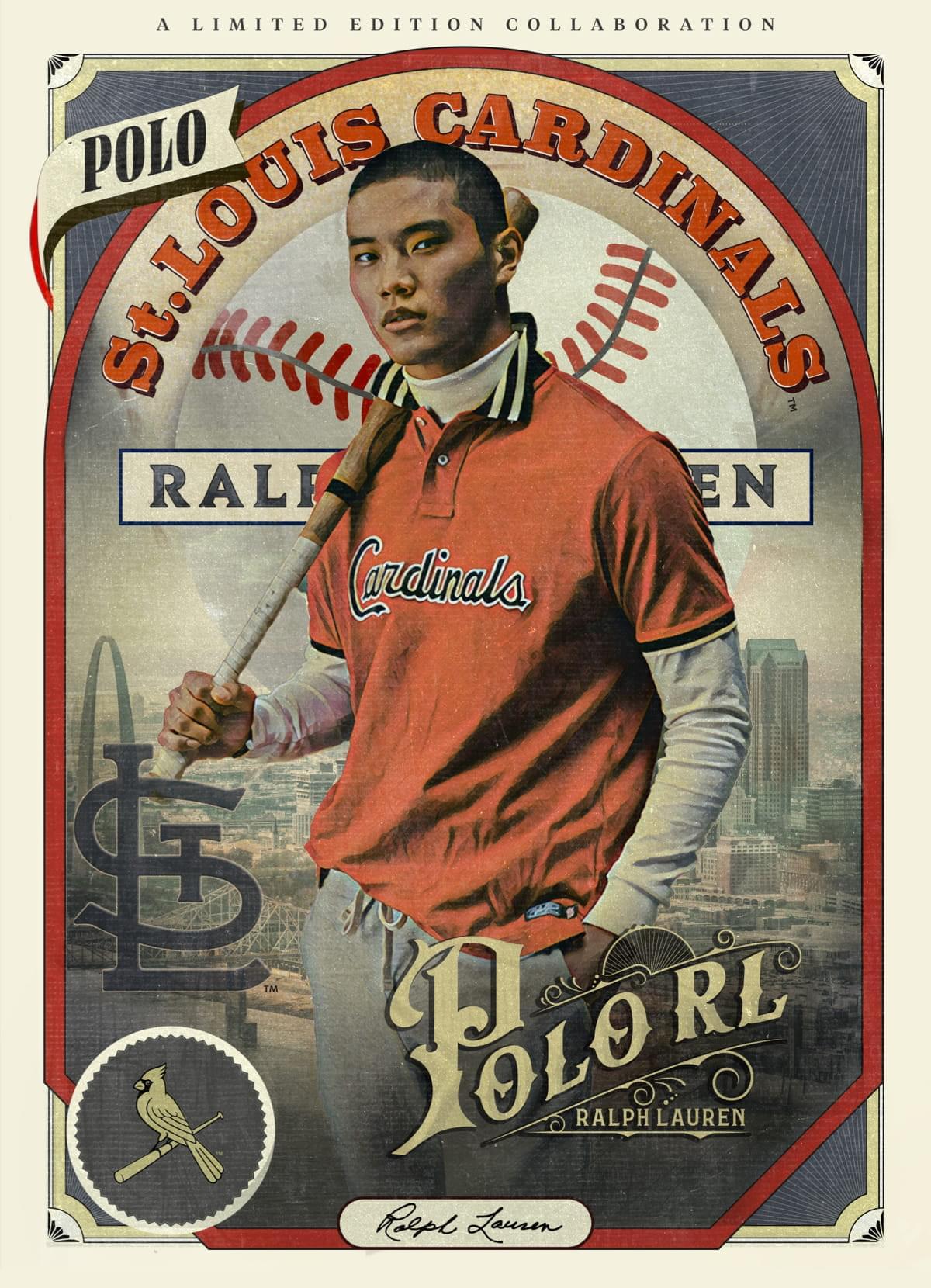 A LIMITED EDITION COLLABORATION Ralph Lauren Cardinalsトレーディングカードのイラスト